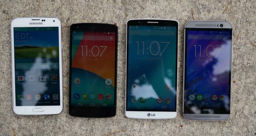 Phones in sunlight