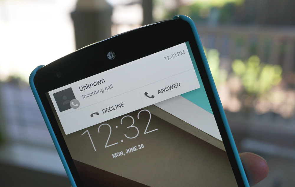 android l heads up