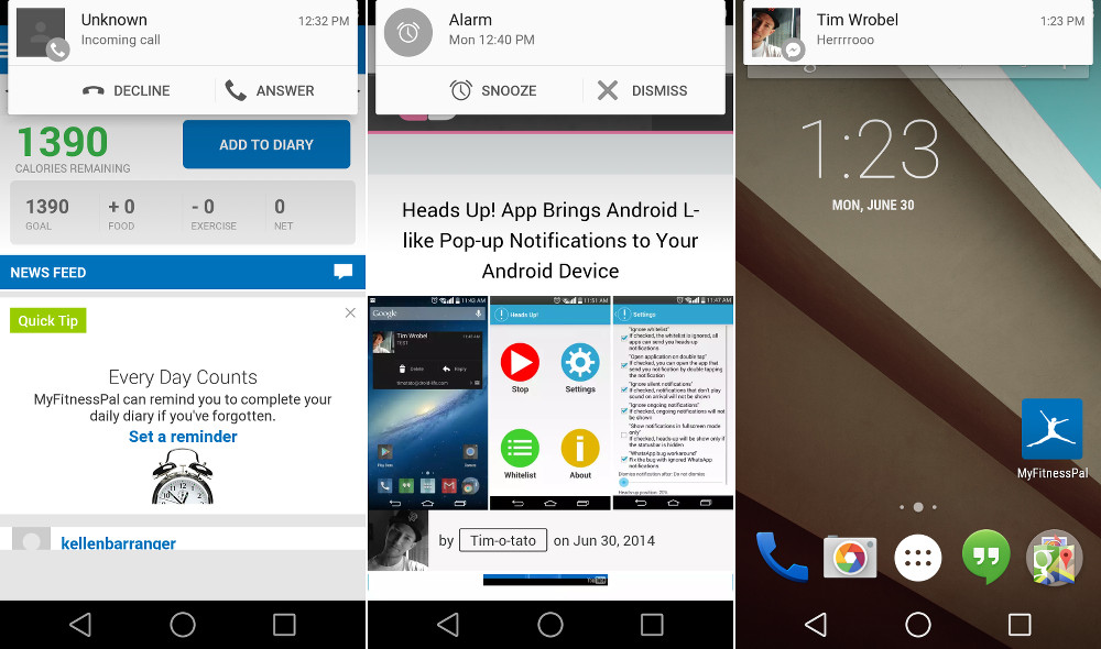 android l heads up2