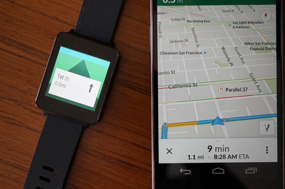 google maps android wear2