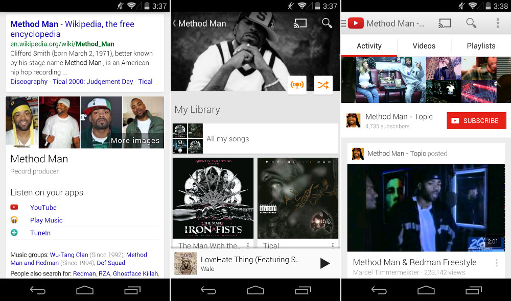 google search music