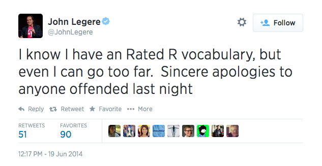 john legere apology
