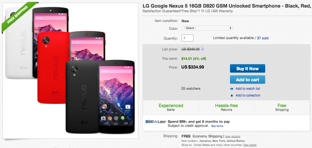 nexus 5 deal