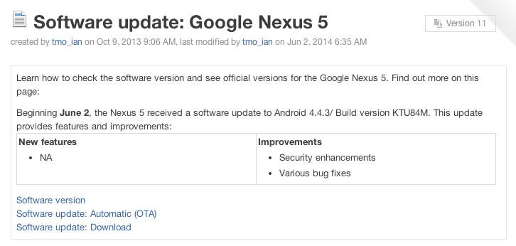 nexus 5 update