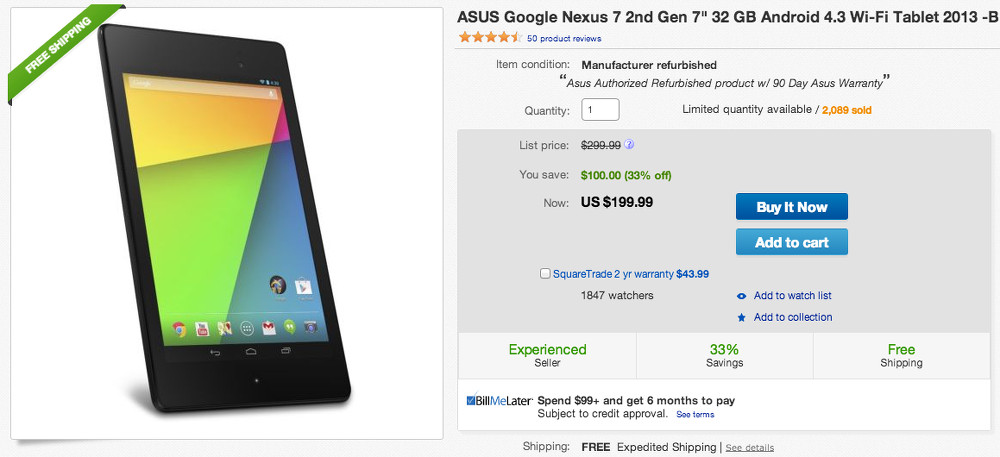 nexus 7 deal