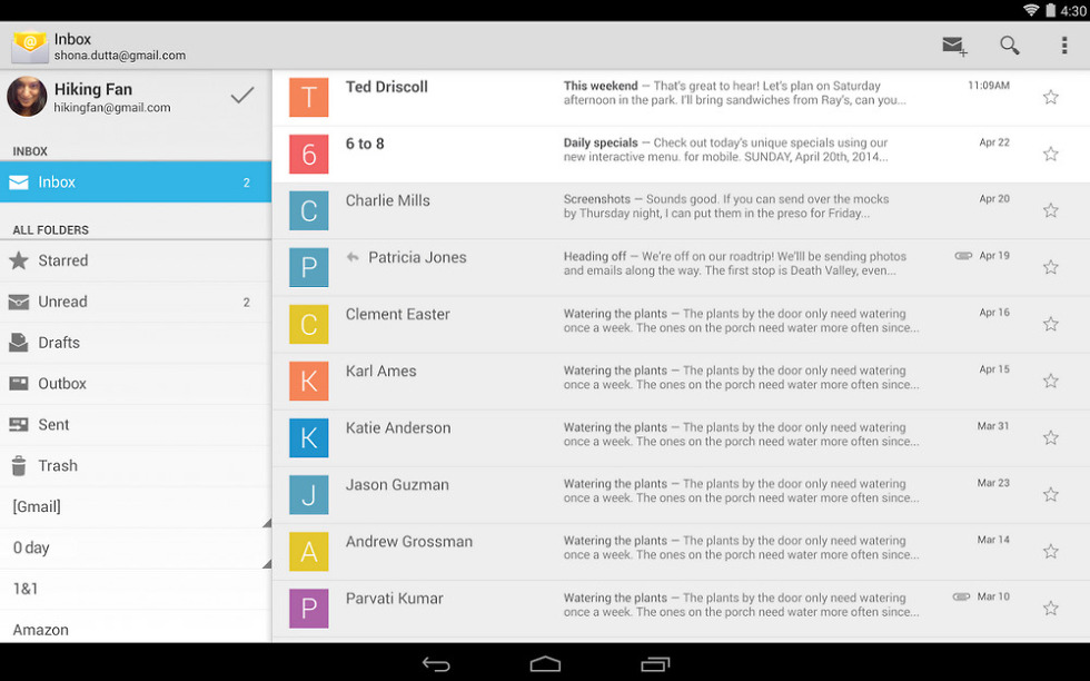 Stock Android Email App Makes Its Debut on Google Play – Droid Life