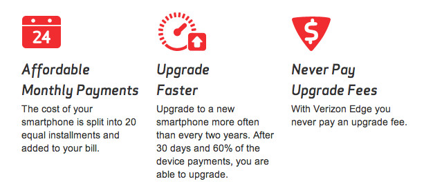 verizon edge changes