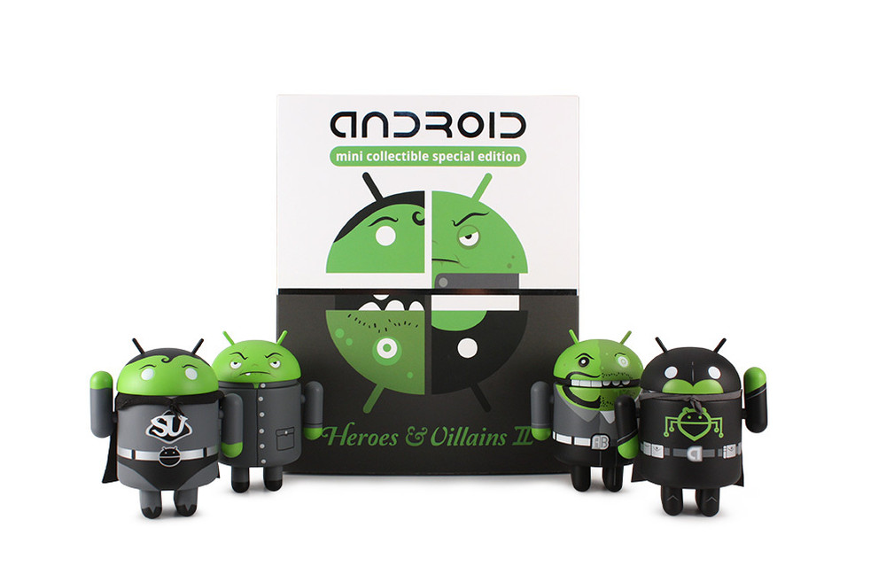 android heroes villains
