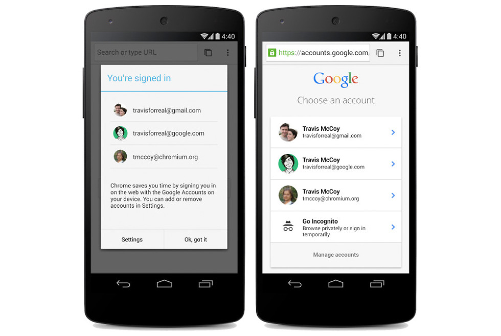 New Chrome Beta for Android Also Introduces Simplified Sign-in for
