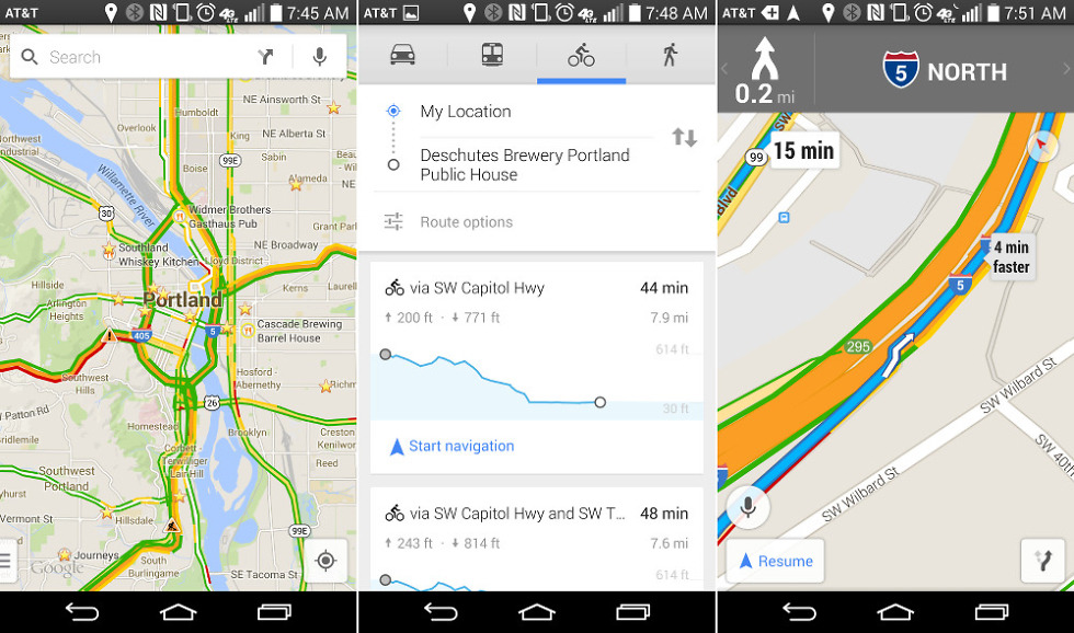 Google Maps 8 2 0 Adds Bicycle Elevation, Voice Actions in