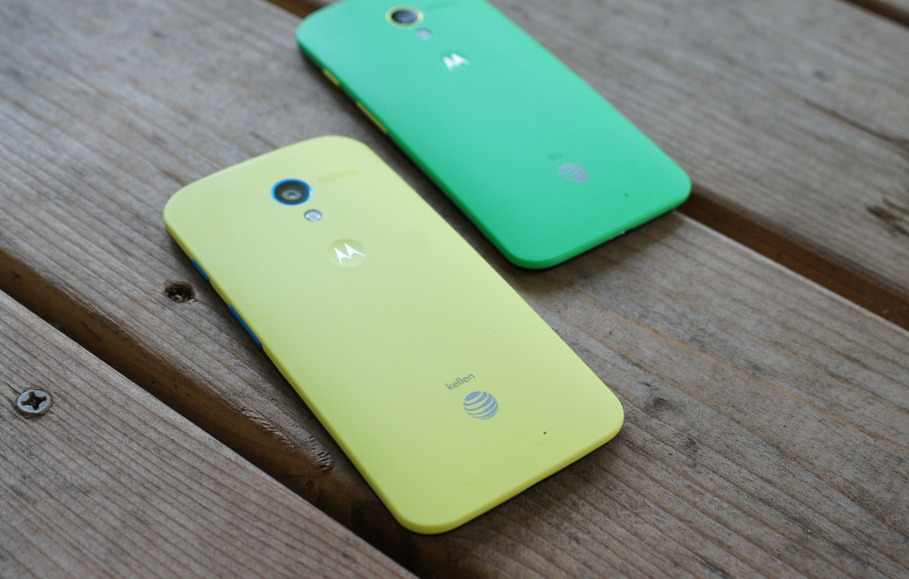moto x green yellow