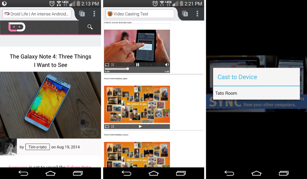 Firefox Nightly App for Android Updated, Receives Chromecast Support