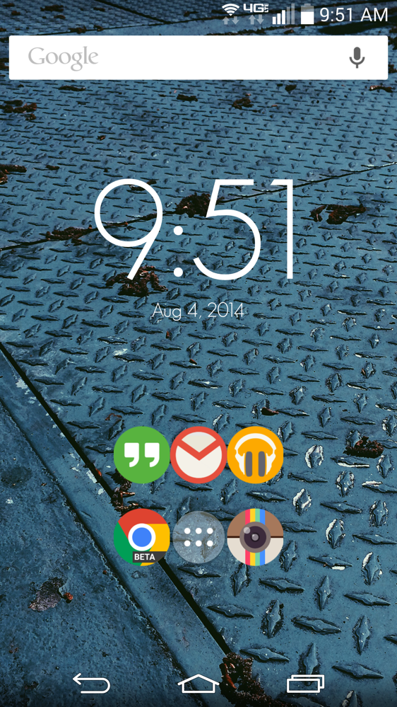 Home screen - 3
