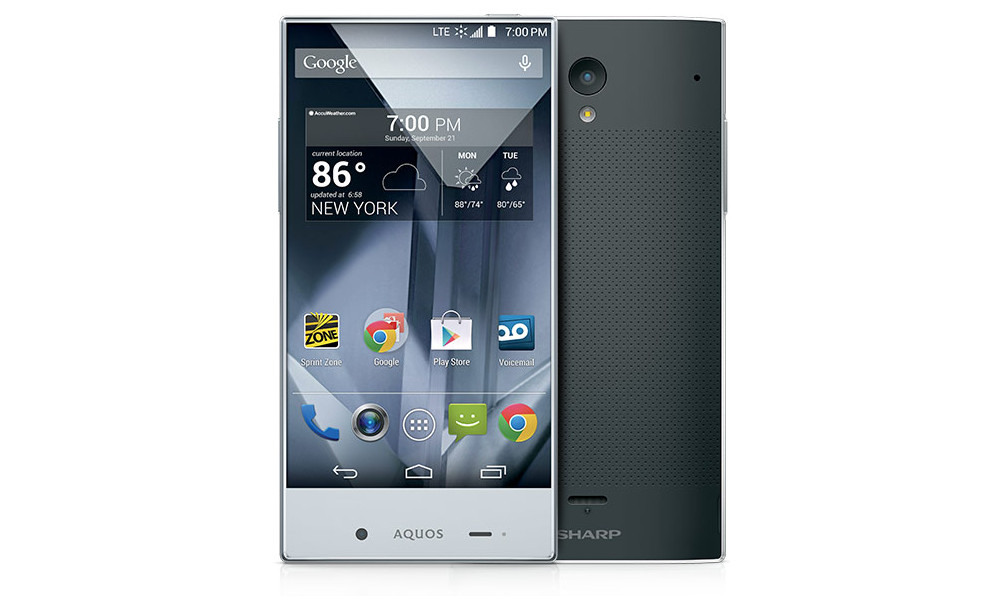 sharp aquos crystal black
