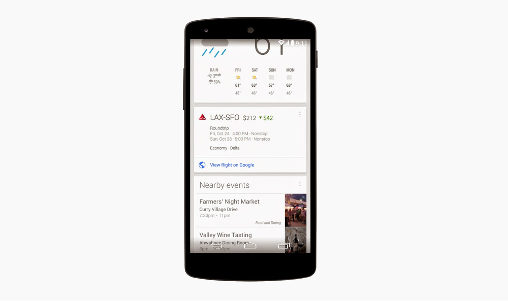 Google Now Airfare