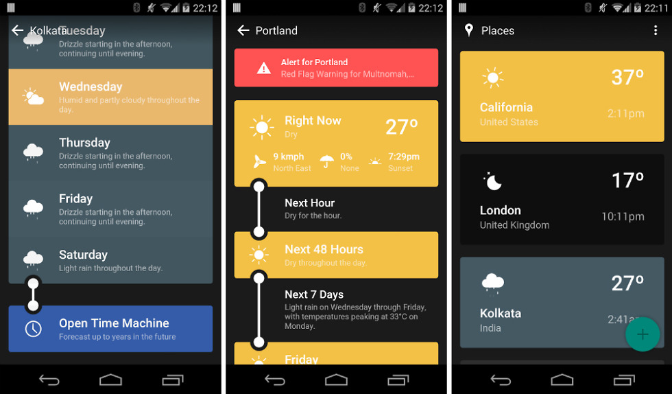 weather timeline is a weather app inspired by material