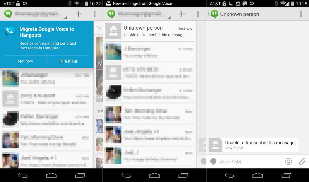 google voice hangouts merge