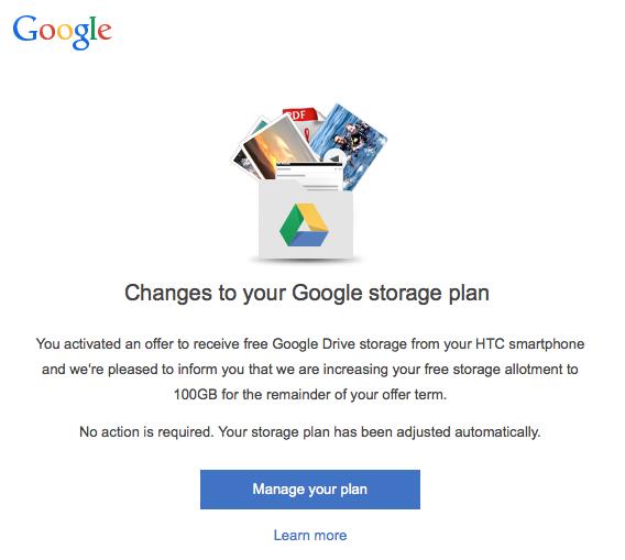 htc google drive