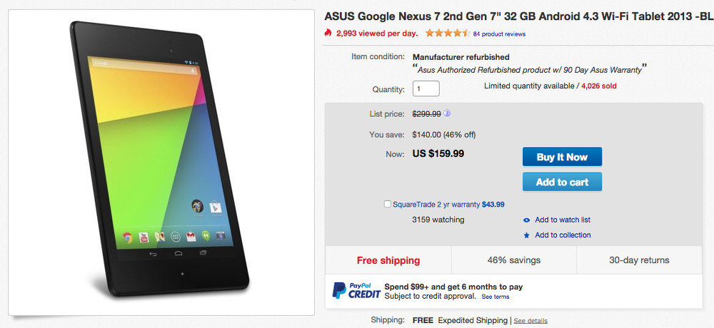 nexus 7 32gb deal