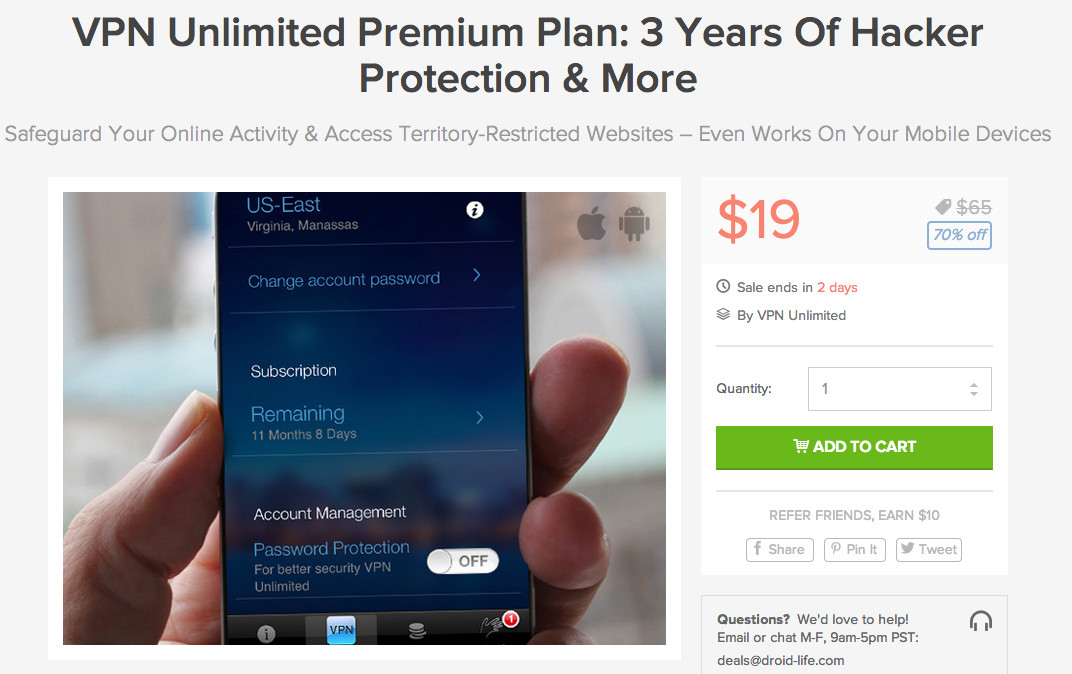 vpn unlimited deal