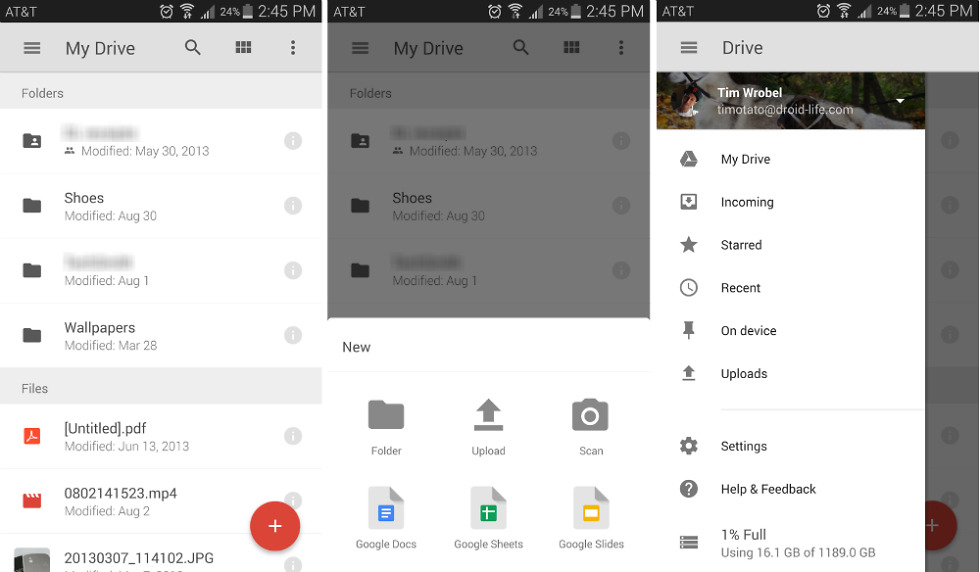 Updates Roll Out to Google Drive, Camera, Android Wear