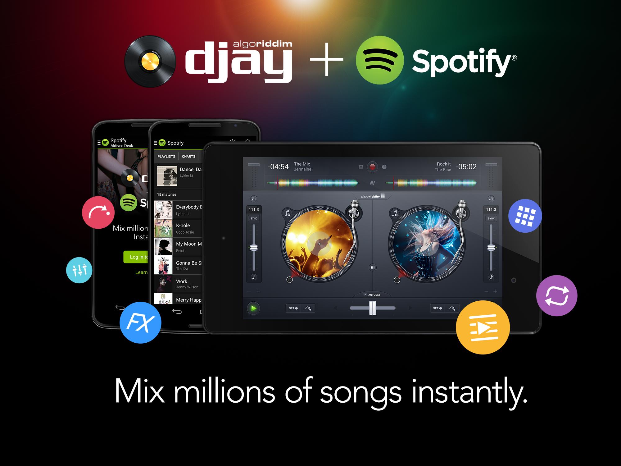 djay + Spotify
