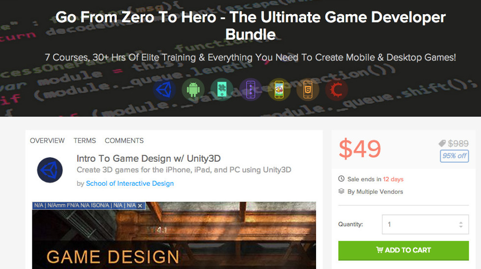 Deal: Become the Ultimate Game Developer for $49 With This Bundle