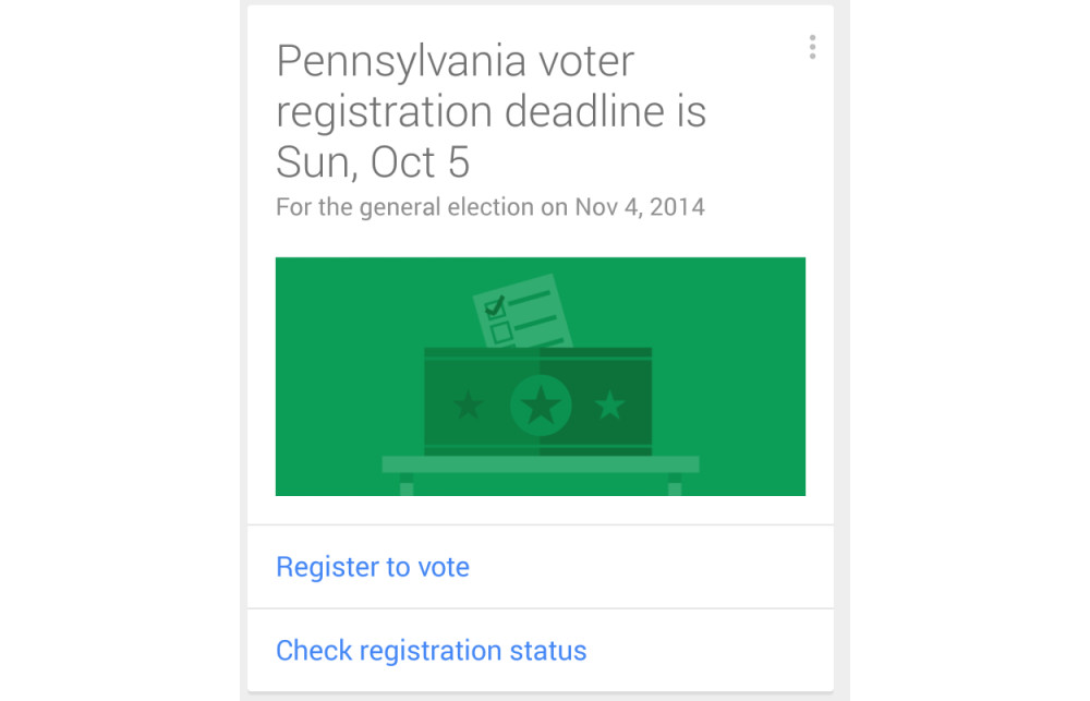 google now voter registration