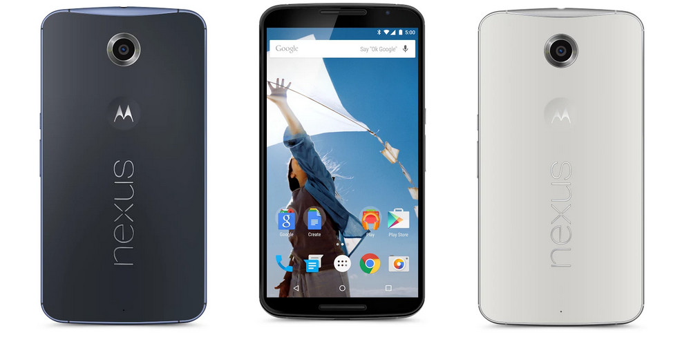 nexus 6 white blue