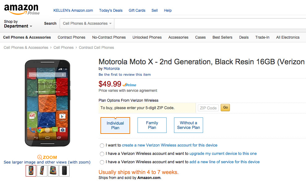 verizon moto x deal