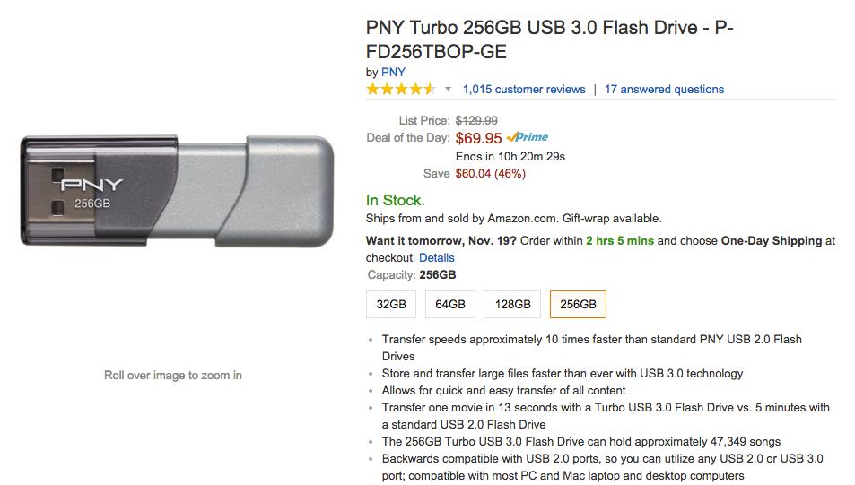 Amazon PNY memory