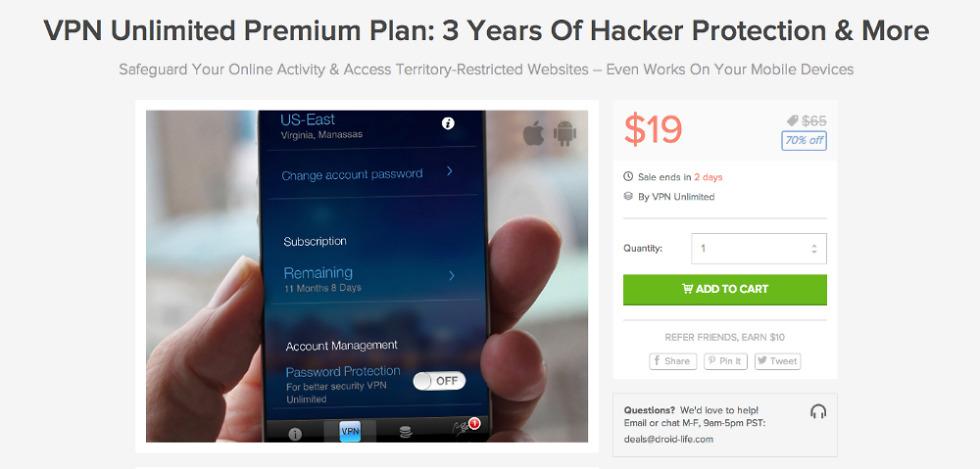 Deal: VPN Unlimited Premium Plan, 3 Years of Hacker
