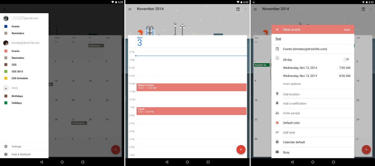 calendar 5.0 tablet
