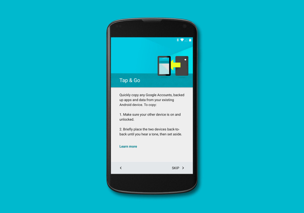 Android 5 0 Feature: Tap & Go Restore and Restore From