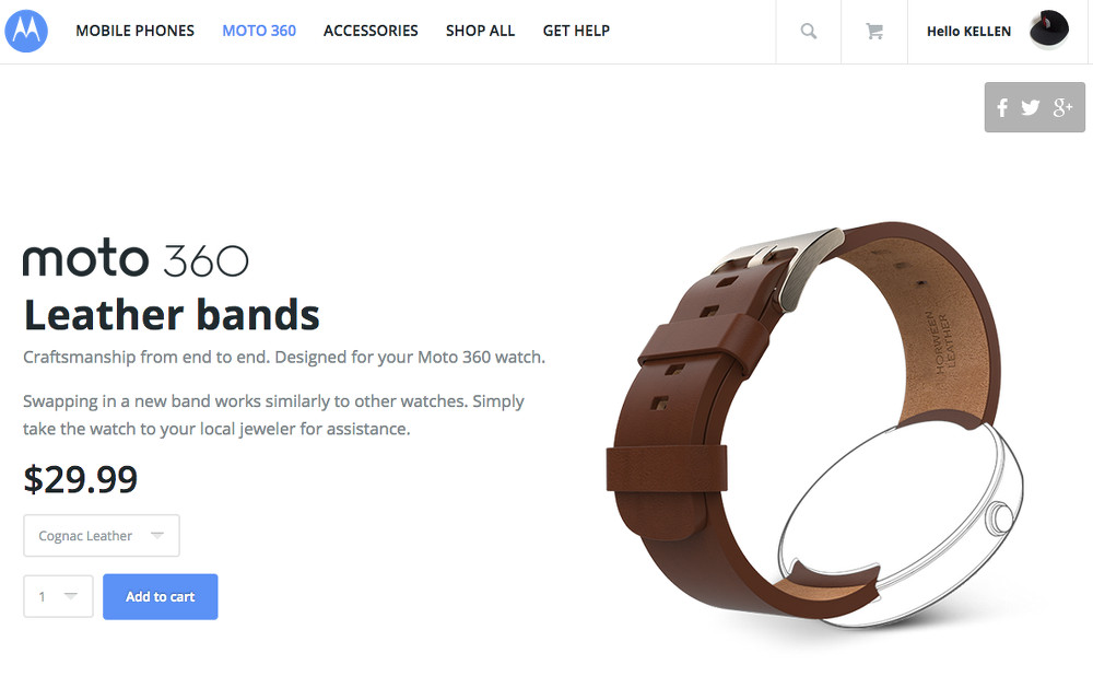 moto 360 leather bands
