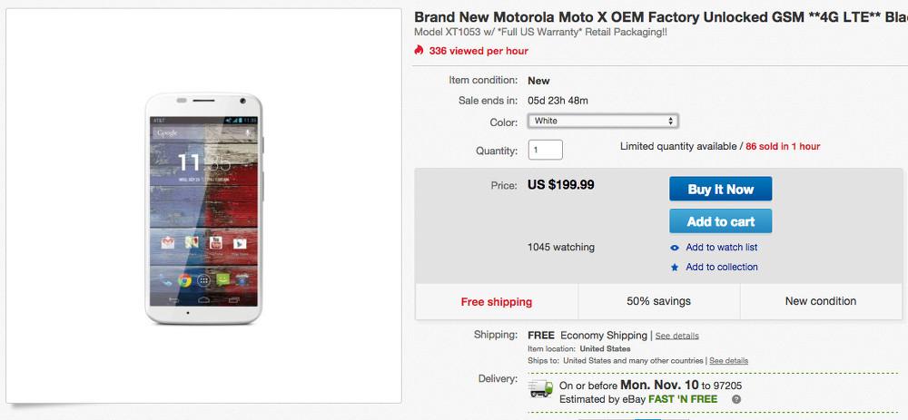 moto x ebay deal