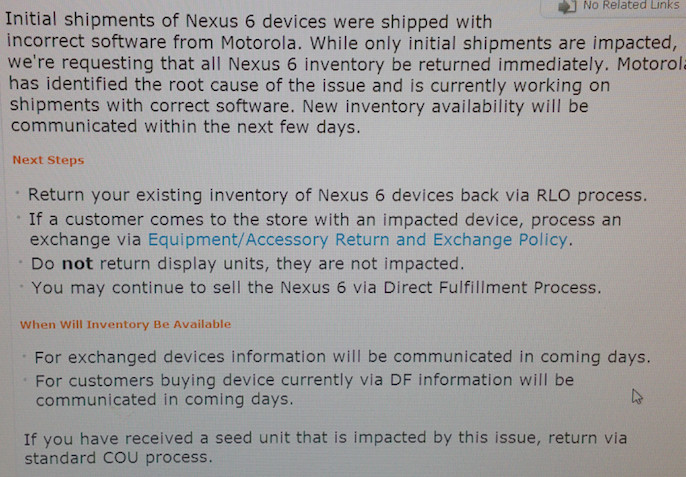 nexus 6 bug