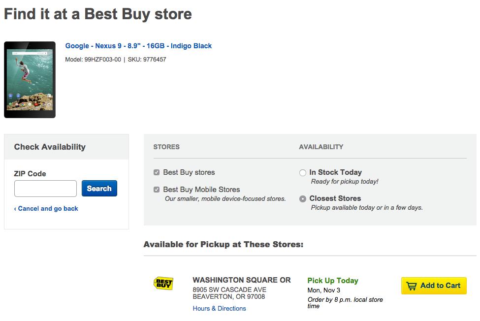 nexus 9 best buy