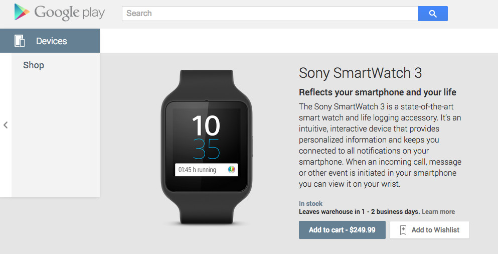 smartwatch 3 google play