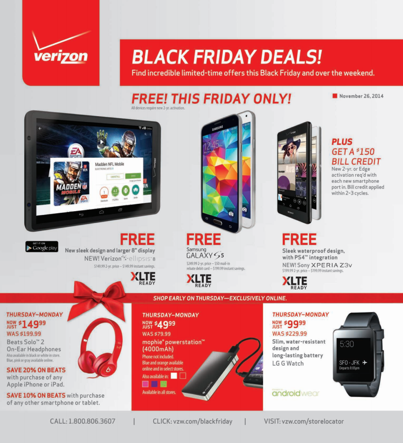 verizon black friday 2014 deals free galaxy s5 moto x football edition xperia z3v 99 g. Black Bedroom Furniture Sets. Home Design Ideas