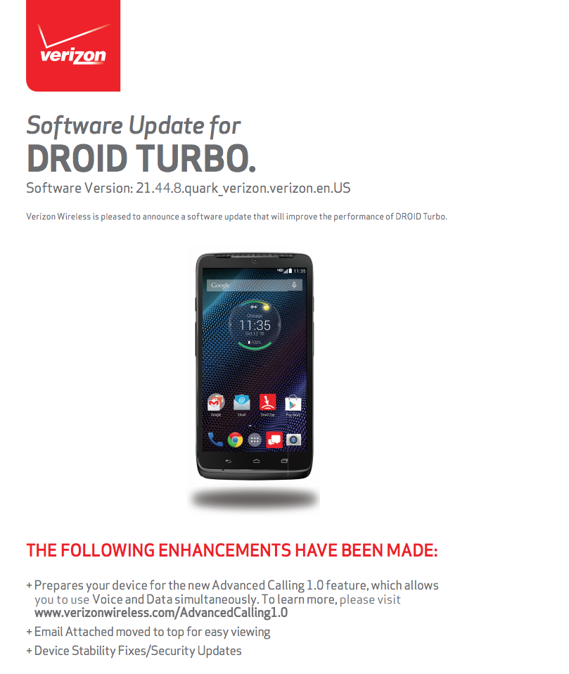 droid turbo volte