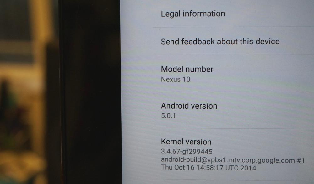 nexus 10 android 501