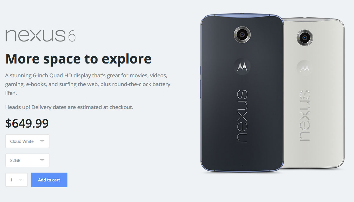 nexus 6 in stock