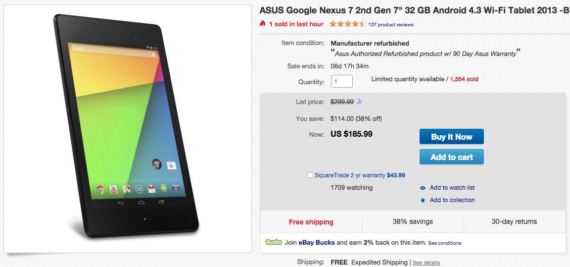 nexus 7 deal ebay