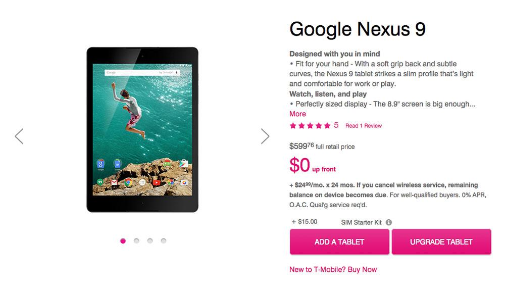 Nexus 9 LTE version
