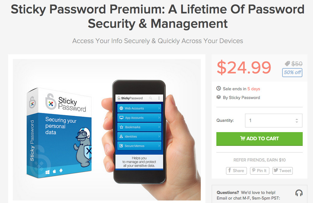 sticky password deal