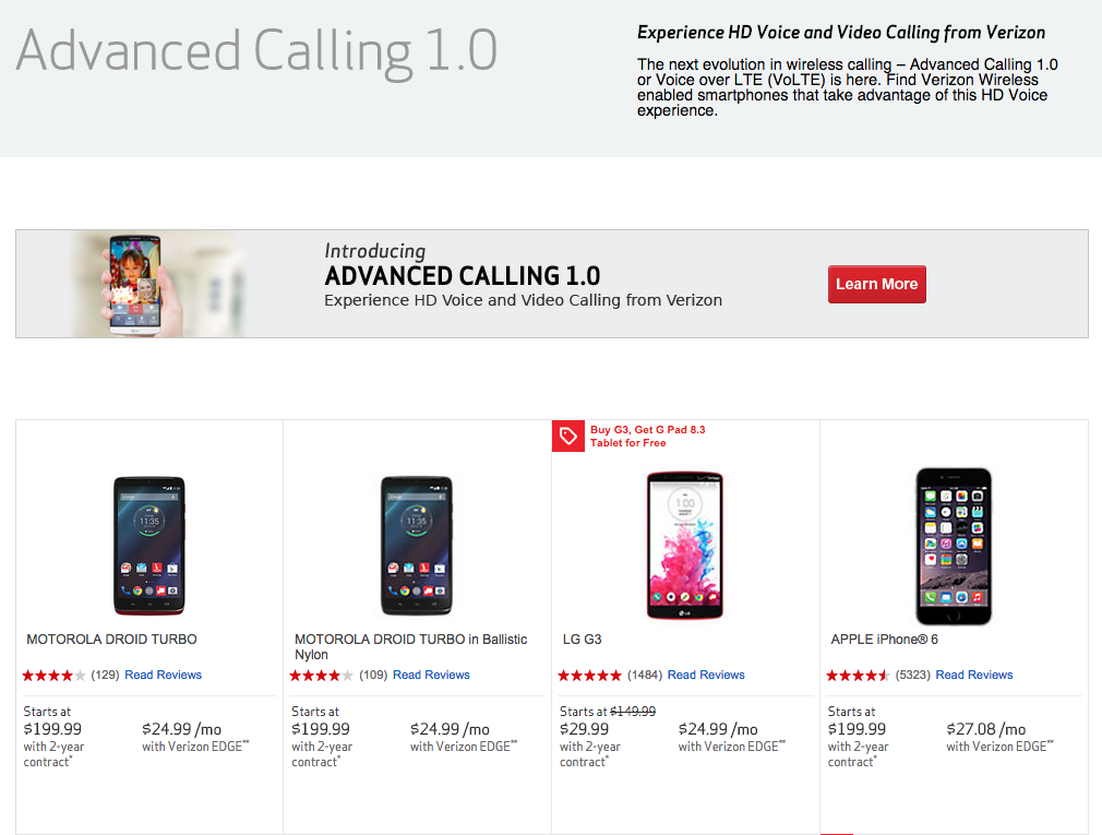 verizon advanced calling devices