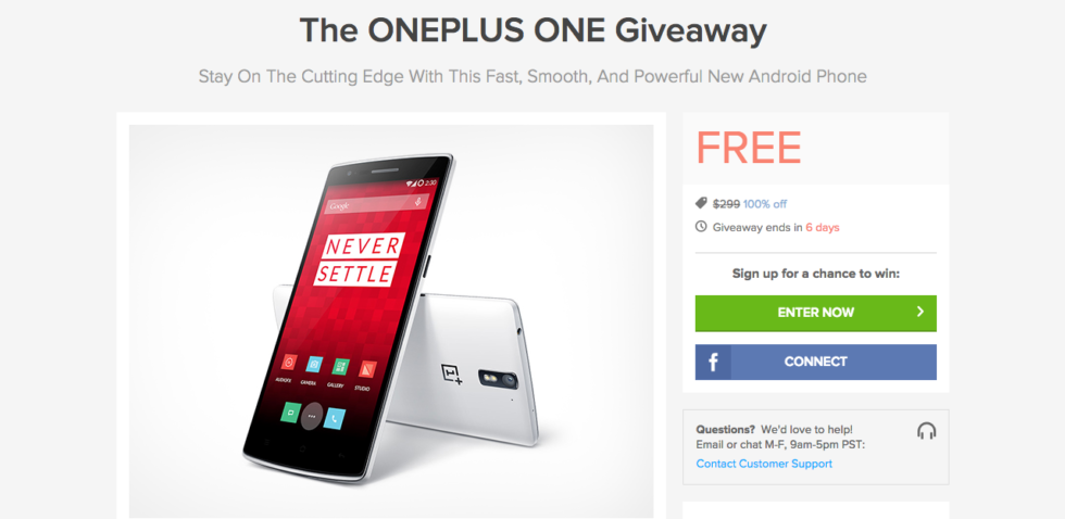 Giveaway: Enter for Your Chance to Win a Free OnePlus One Smartphone