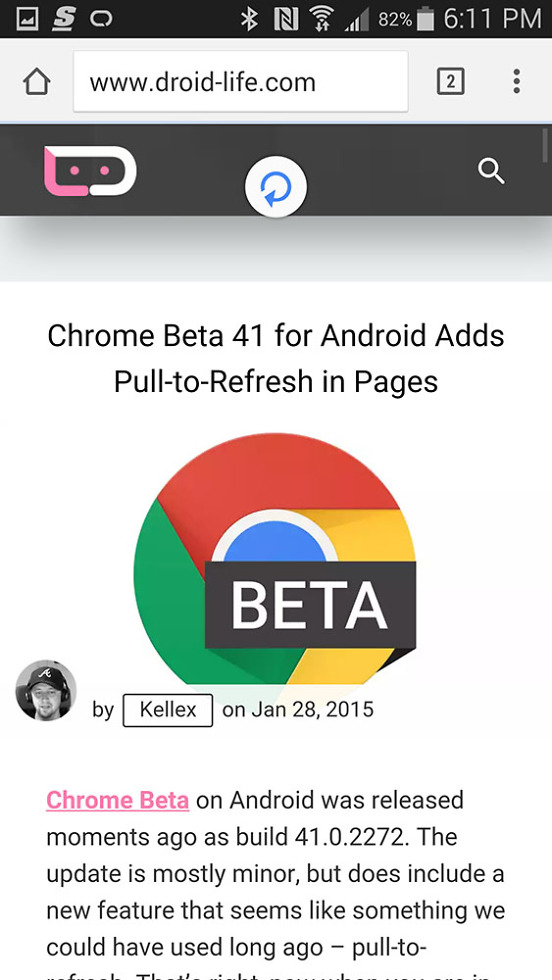 chrome beta 41
