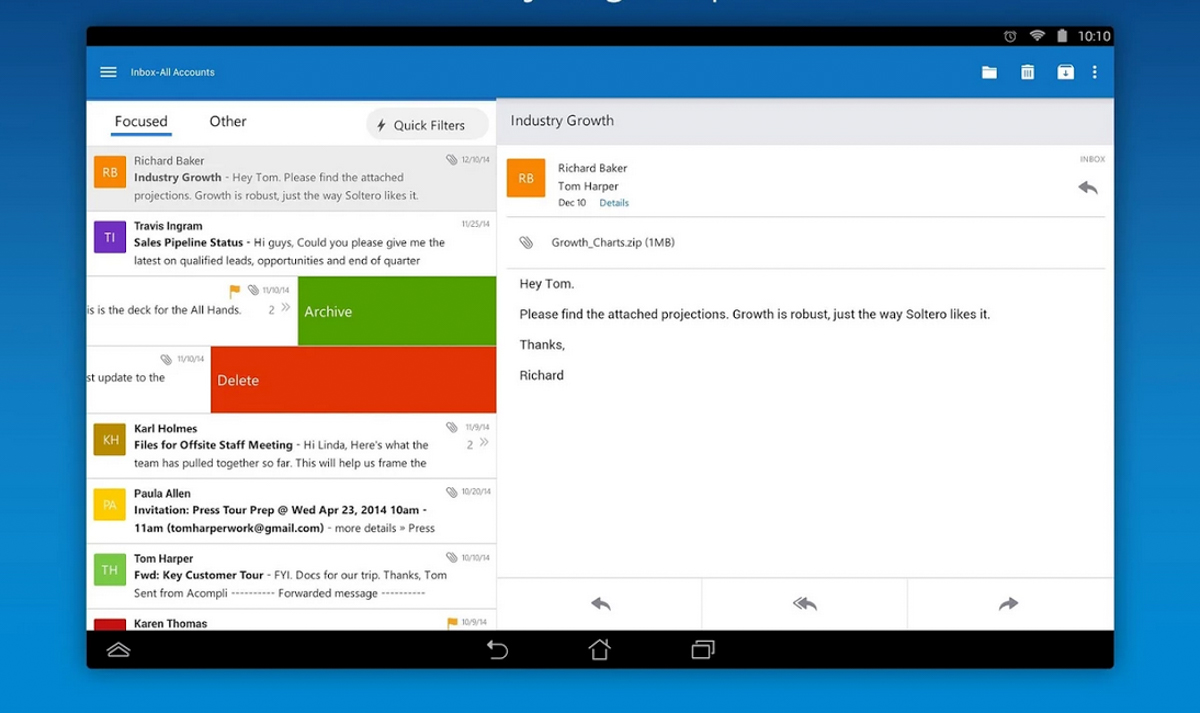 Microsoft Outlook Preview Lands on Android, Might be Worth a Serious ...